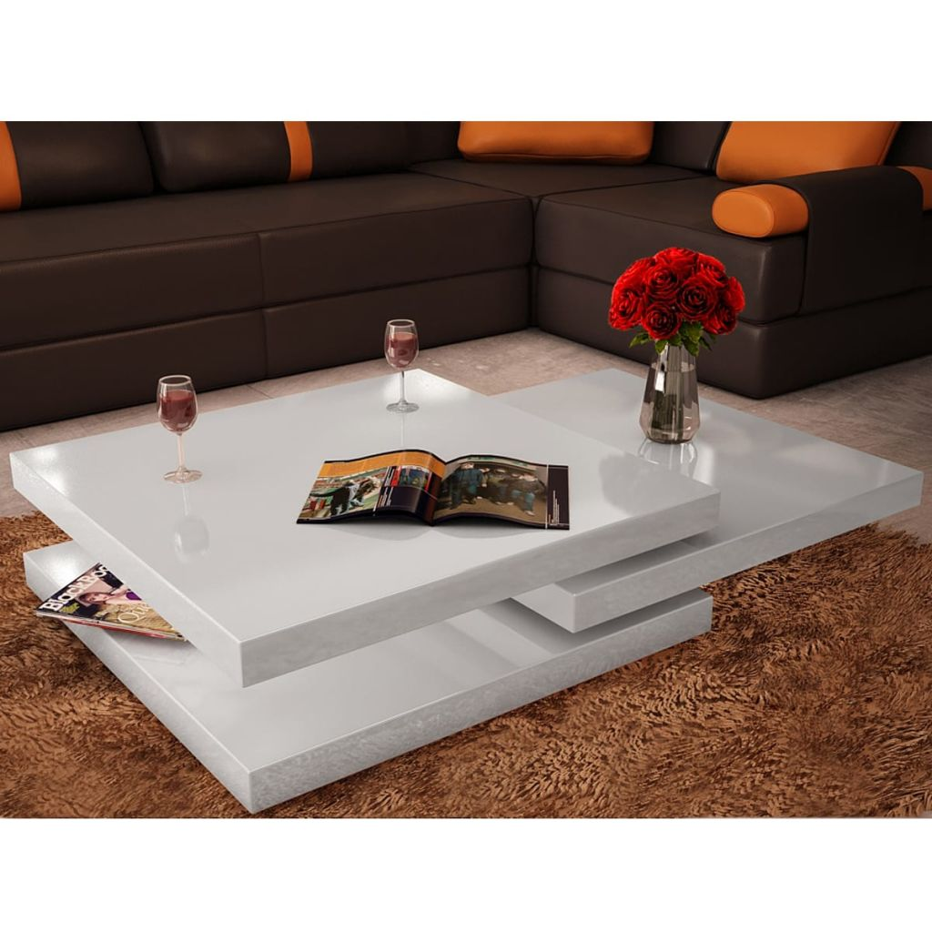 vidaxl coffee table 3 tiers high gloss white walmart com