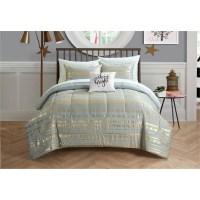 Latitude Camelia Metallic Arrows Bed in a Bag Bedding Set ...