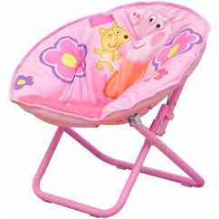 Saucer Chair For Kids Wheelchair Guy Peppa Pig Collapsible Pink Walmart Com