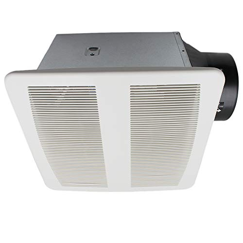 esd tech quiet bathroom exhaust fan with adjustable humidity sensor timer 0 4 sones 90 cfm white grill 6 inch duct with