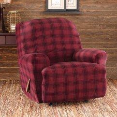 Recliner Patio Chair Wheelchair Van Lift Sure Fit Stretch Belmont Plaid - Walmart.com
