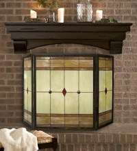 Mission Stained Glass Fireplace Screen - Walmart.com