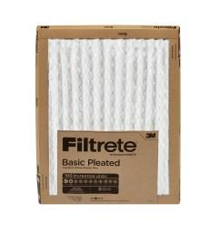 filtrete 12x12x1 filtrete basic pleated hvac furnace air filter 100 mpr 1 filter [ 3000 x 3000 Pixel ]