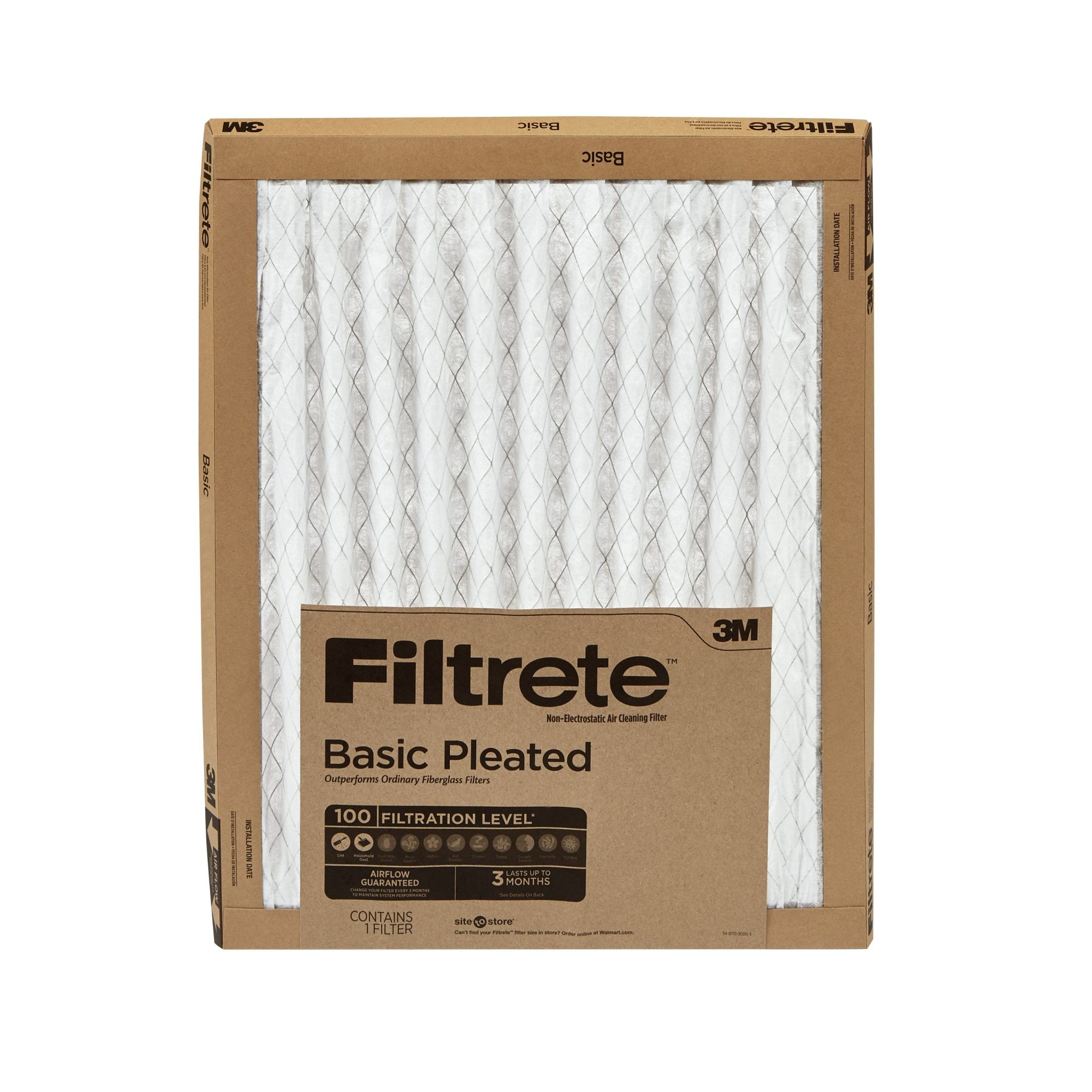 hight resolution of filtrete 12x12x1 filtrete basic pleated hvac furnace air filter 100 mpr 1 filter