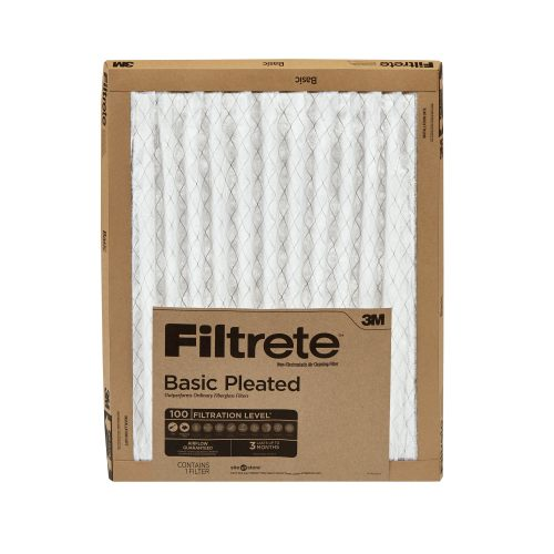 small resolution of filtrete 12x12x1 filtrete basic pleated hvac furnace air filter 100 mpr 1 filter