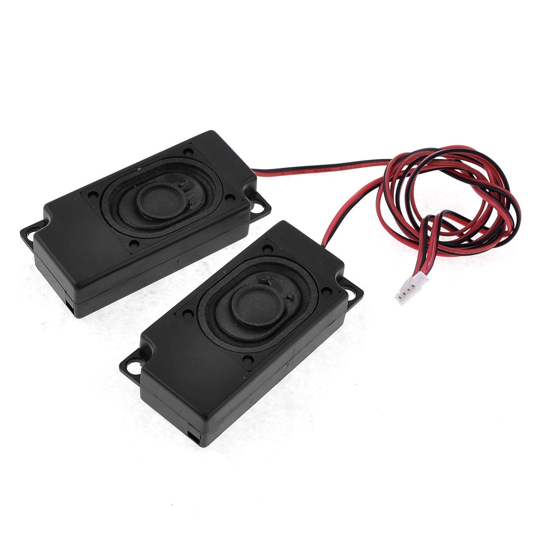 small resolution of unique bargains 2w 8 ohm black rectangle magnetic laptop internal speaker with wire