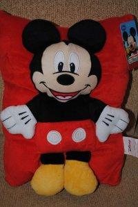 Disney Mickey Mouse Plush Throw Pillow - Walmart.com