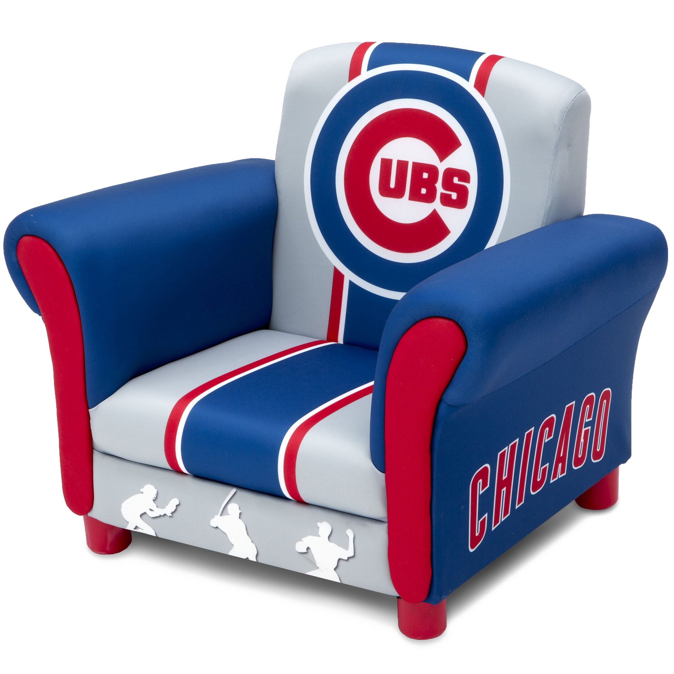 Toddler Chairs Upholstered Details About Chicago Cubs Kids Upholstered Chair Children Toddler Furniture Baseball Cubbies