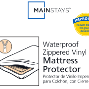 Mainstays Waterproof Zippered Vinyl Mattress Protector White Image 2 Of