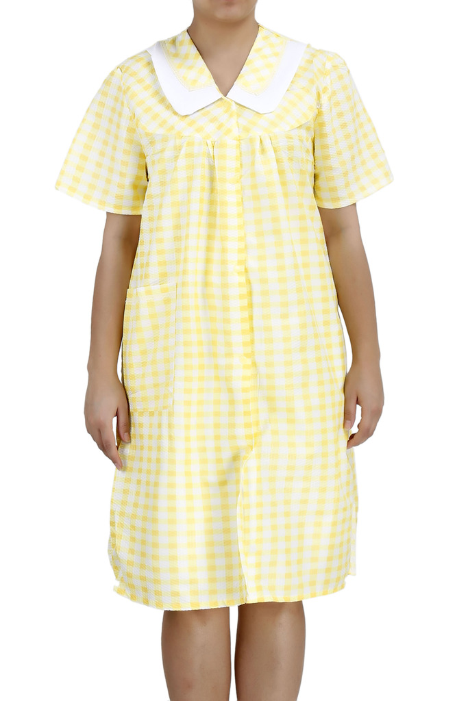 Women39s Short Sleeve SnapFront Cotton House Dress by