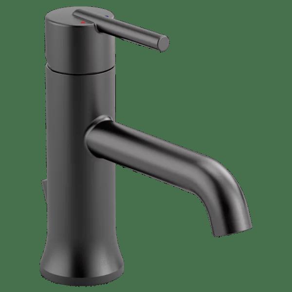 delta trinsic single handle bathroom faucet in matte black 559lf blmpu