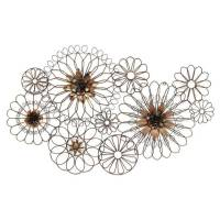 Stratton Home Decor Whimsical Wire Flowers Wall Decor ...