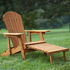 Big Daddy Adirondack Chair Corner Desk Coral Coast Reclining Tall Wood With Pull Out Ottoman Natural Walmart Com