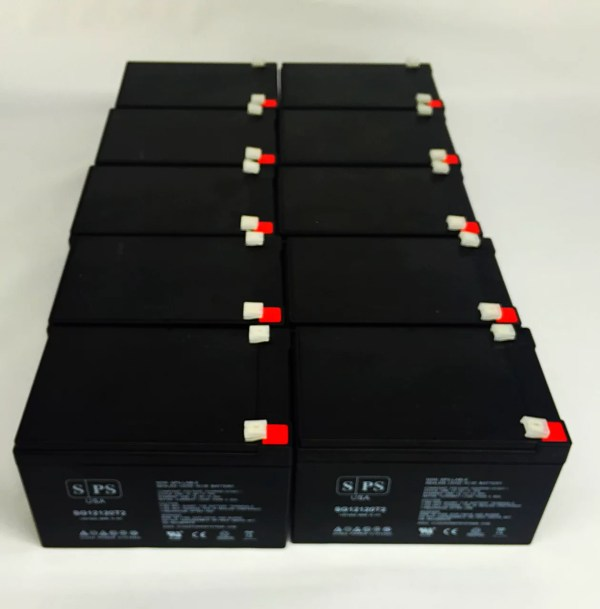 Sps Brand 12v 12ah Replacement Battery Apc Smart-ups Smt1000 10 Pack