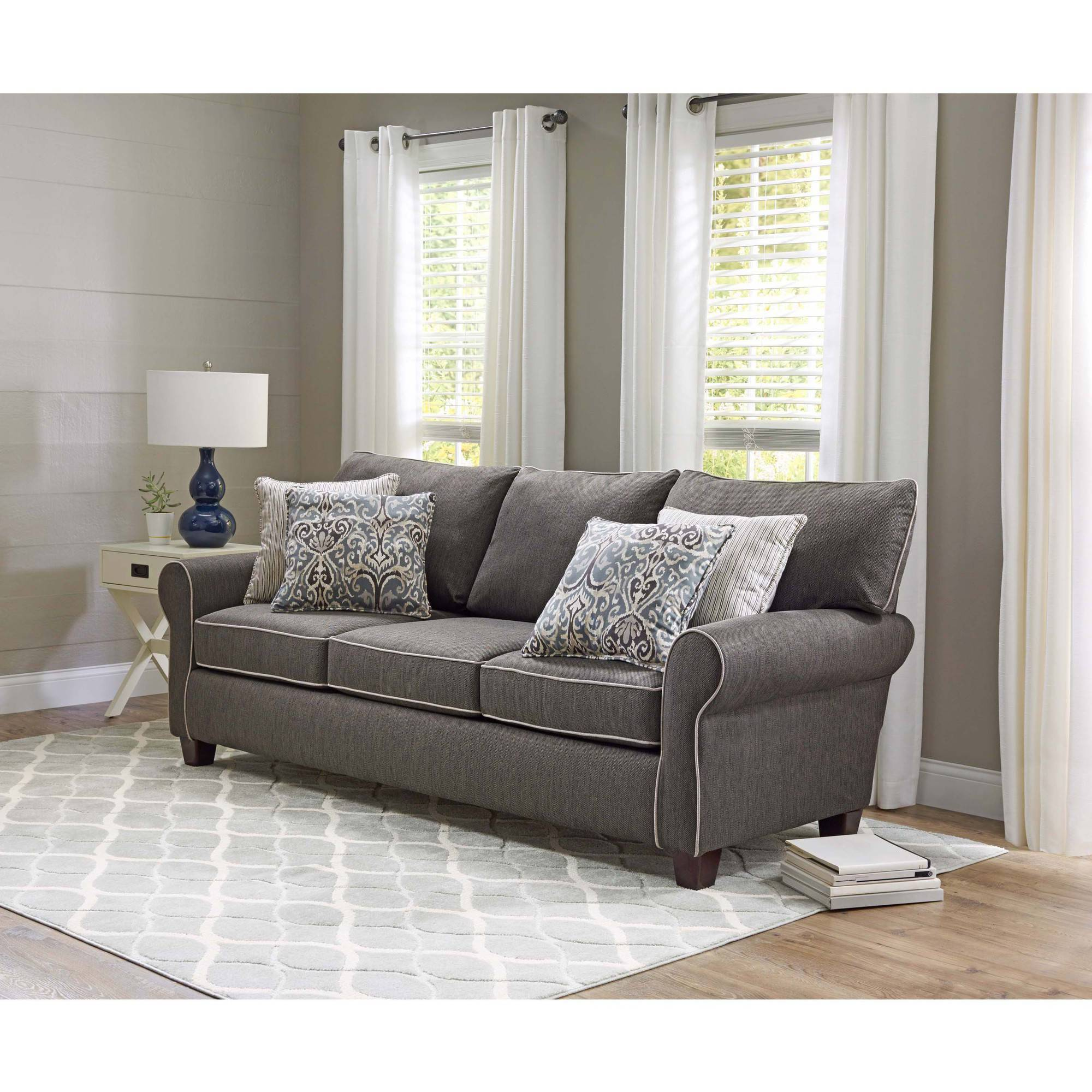 sofa in walmart what are the dimensions of a queen size sleeper signature design by ashley alenya com
