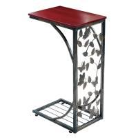 Gramercy Elegant Metal Side Sofa Table  Butterfly Design