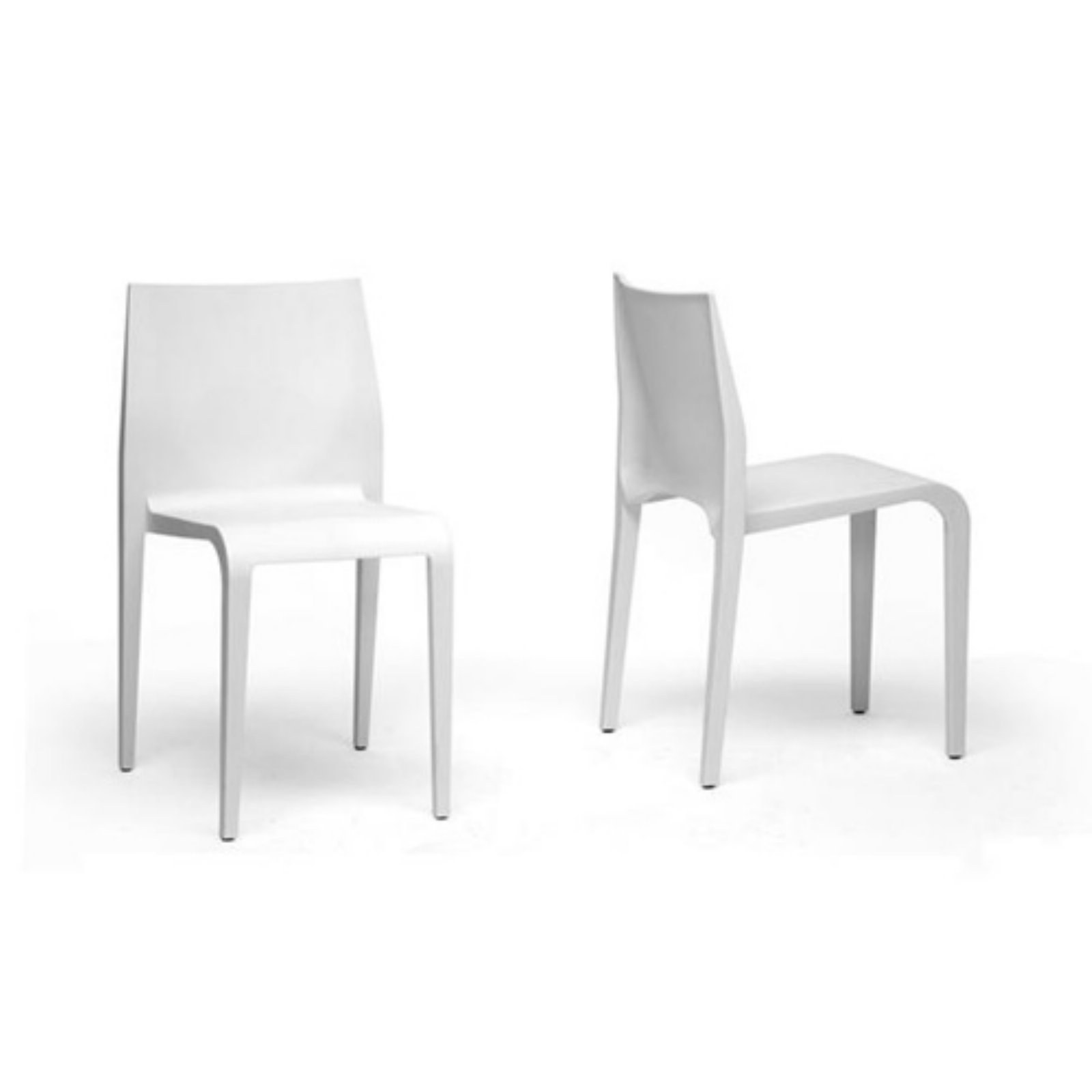 white plastic dining chairs bedroom dressing table chair baxton studio blanche stackable molded
