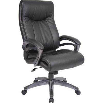 Boss Double Layer LeatherPlus Executive Chair Black