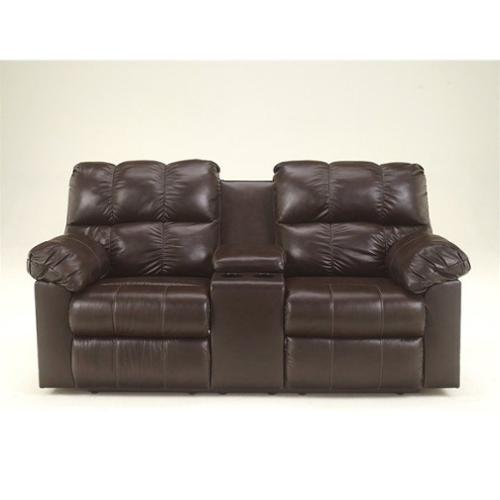 Ashley Furniture Kennard Double Leather Reclining Loveseat
