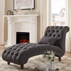 Long Lounge Chair Covers To Hire Uk Weston Home Bowman Tufted With Matching Pillow Multiple Colors Walmart Com