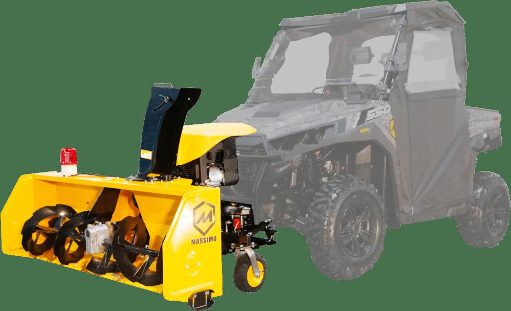 medium resolution of massimo utv snow blower compatible with cub cadet hisun bennche