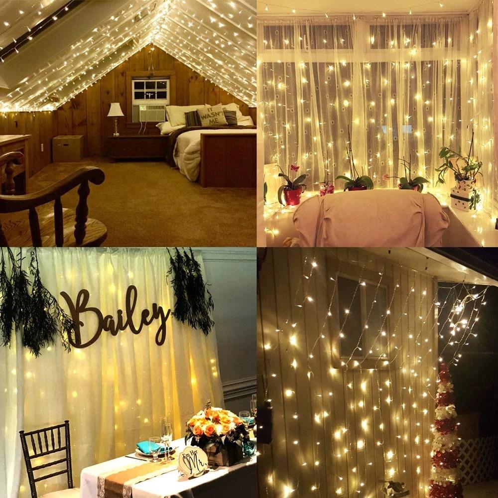 huis warm white led curtain lights
