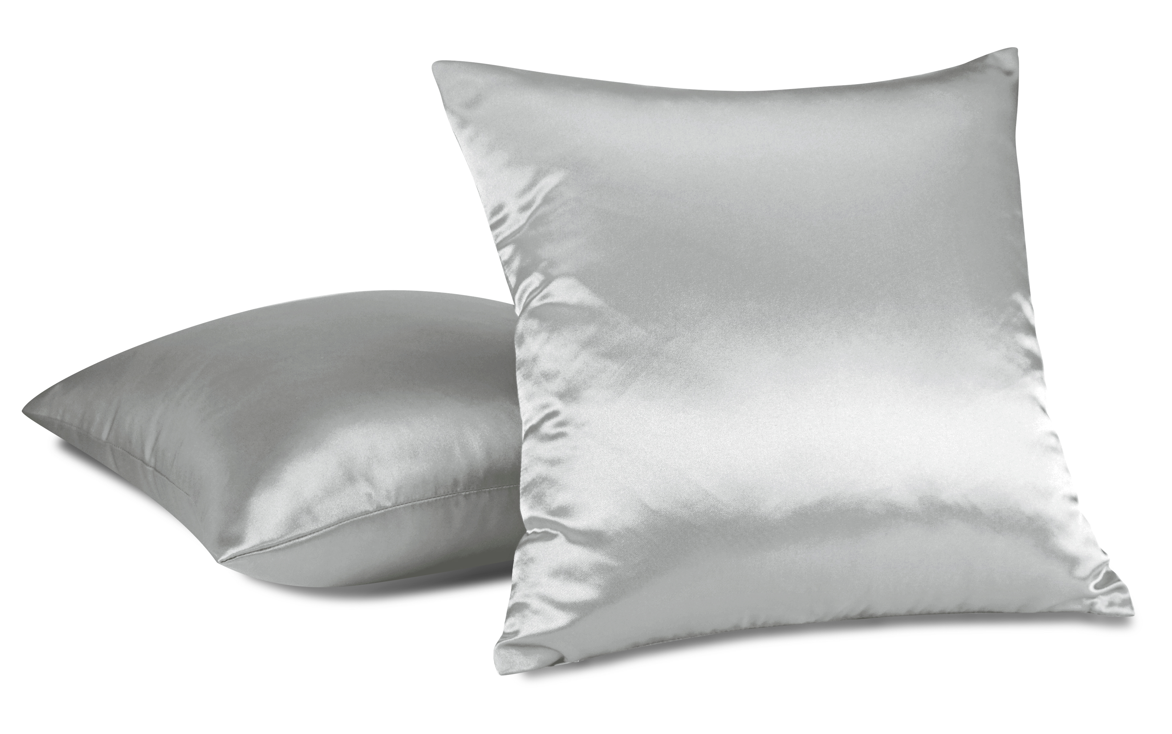aiking home 2 of colorful shiny satin euro shams pillow covers 18 by 18 silver