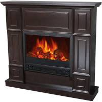 "Decor-Flame Electric Fireplace Space Heater with 44"" Wide ..."