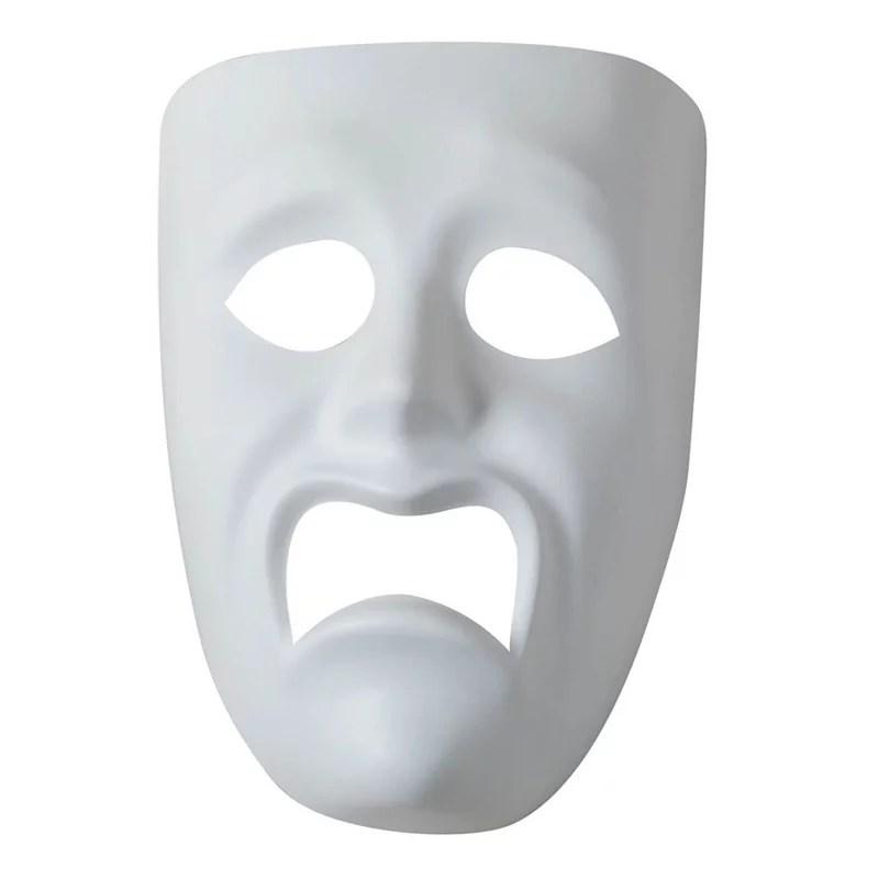 plastic mask sad face