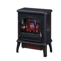 3D Infrared Quartz Electric Fireplace Stove, Black ...