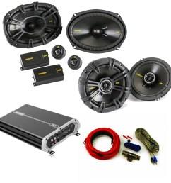 kicker speaker package 40css694 6x9 40cs654 6 5 dxa 250 watt 4 channel amp wiring kit walmart com [ 1000 x 1000 Pixel ]