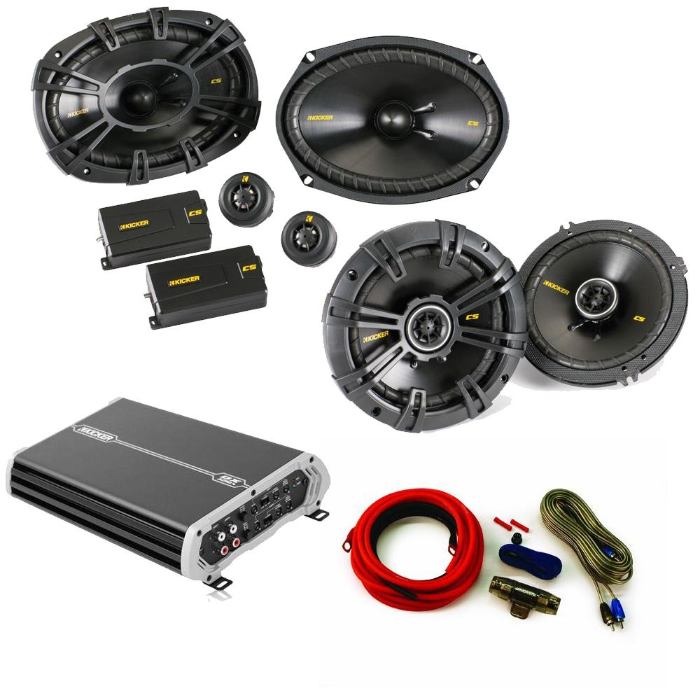 hight resolution of kicker speaker package 40css694 6x9 40cs654 6 5 dxa 250 watt 4 channel amp wiring kit walmart com
