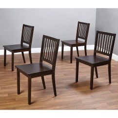 Dining Chairs Double Adirondack Shaker Set Of 4 Espresso Walmart Com