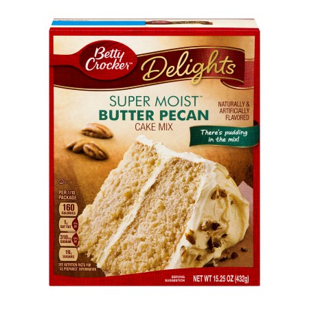 Betty Crocker® Super Moist Cake Mix Butter Pecan 15.25 oz Box