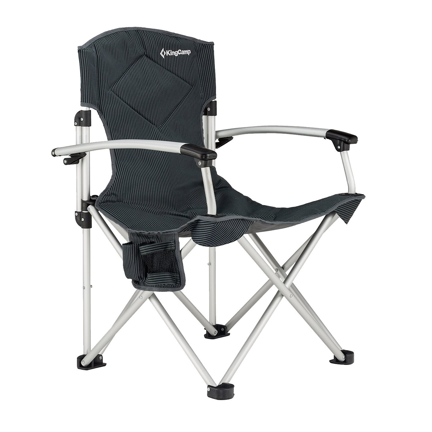 baby camp chair desk in kitchen kingcamp aluminum portable heavy duty folding camping with comfortable smooth armrest carry bag walmart com