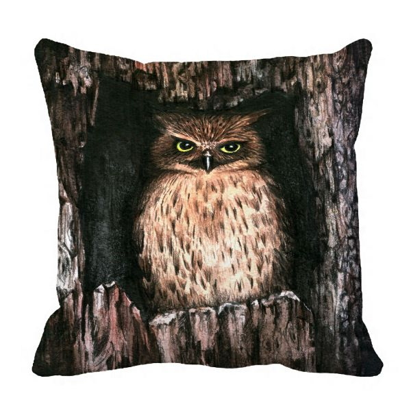 Phfzk Watercolor Animal Pillow Case Cool Owl Pillowcase