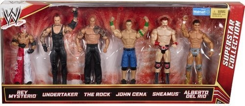 Wwe Superstar Collection Action Figures 6pk Walmart