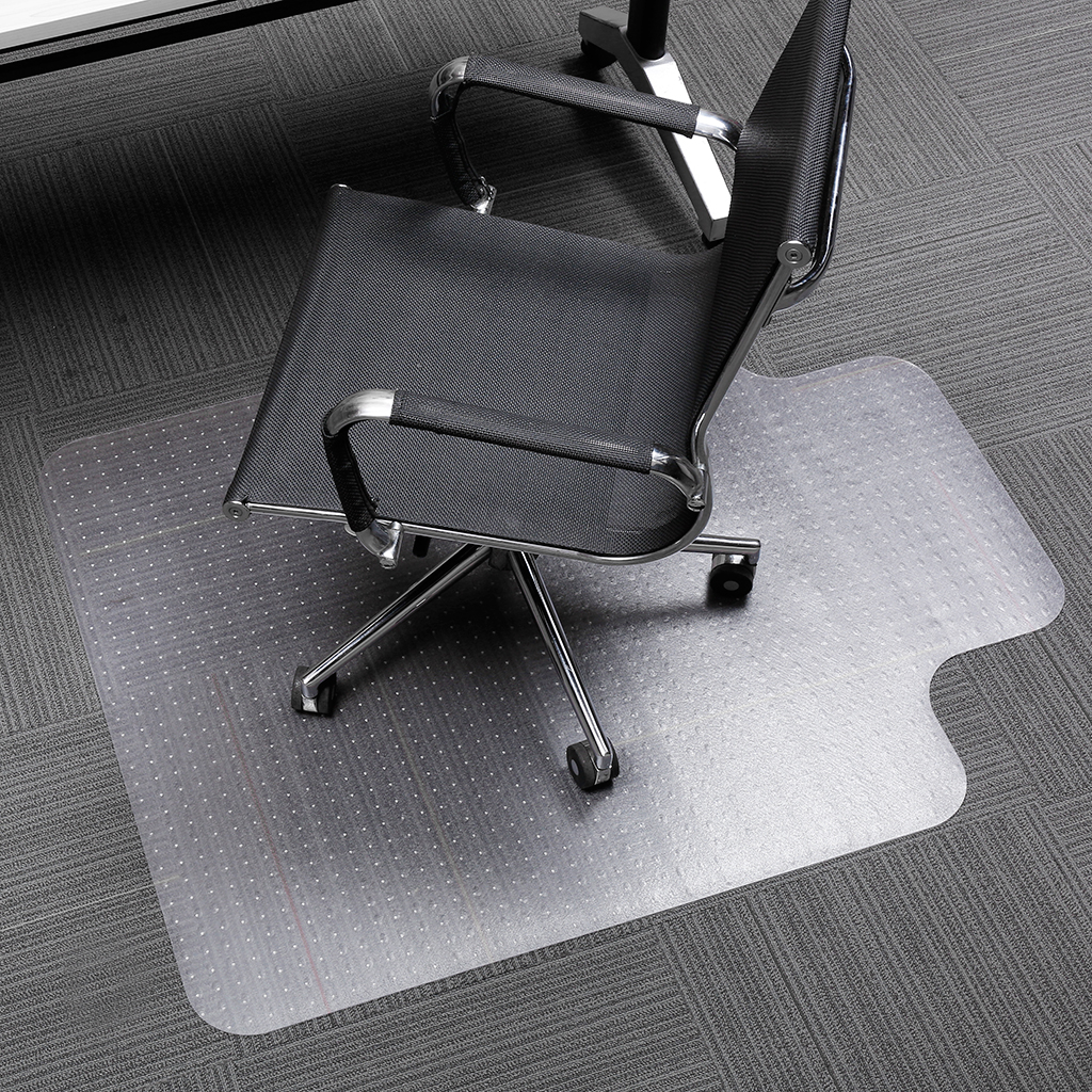 office chair carpet protector unfinished wood chairs slypnos translucent mat with lip and non slip studded backing bpa phthalate free for low pile carpets