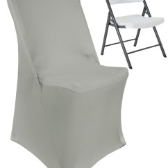 Folding Chair Covers For Wedding Hire Durham Linens Inc Lifetime Spandex Stretch Fitted Party Decoration Cover Silver Walmart Com