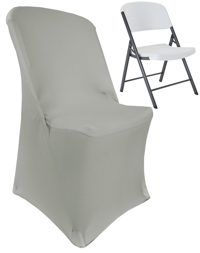 stretch chair covers iron patio chairs wedding linens inc lifetime spandex fitted folding party decoration cover silver walmart com