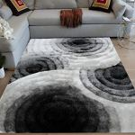 La 8 X10 White Black White Colors 3d Shag Shaggy Area Rug Carpet Plush Woven Braided Hand Knotted Feisty Accent Fluffy Fuzzy Modern Contemporary Soft Bedroom Living Room Indoor Decorative Designer Walmart
