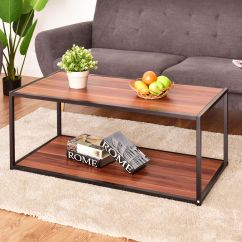 Living Room Table With Storage Center Furniture Coffee Rectangle Sofa Side End Shelf