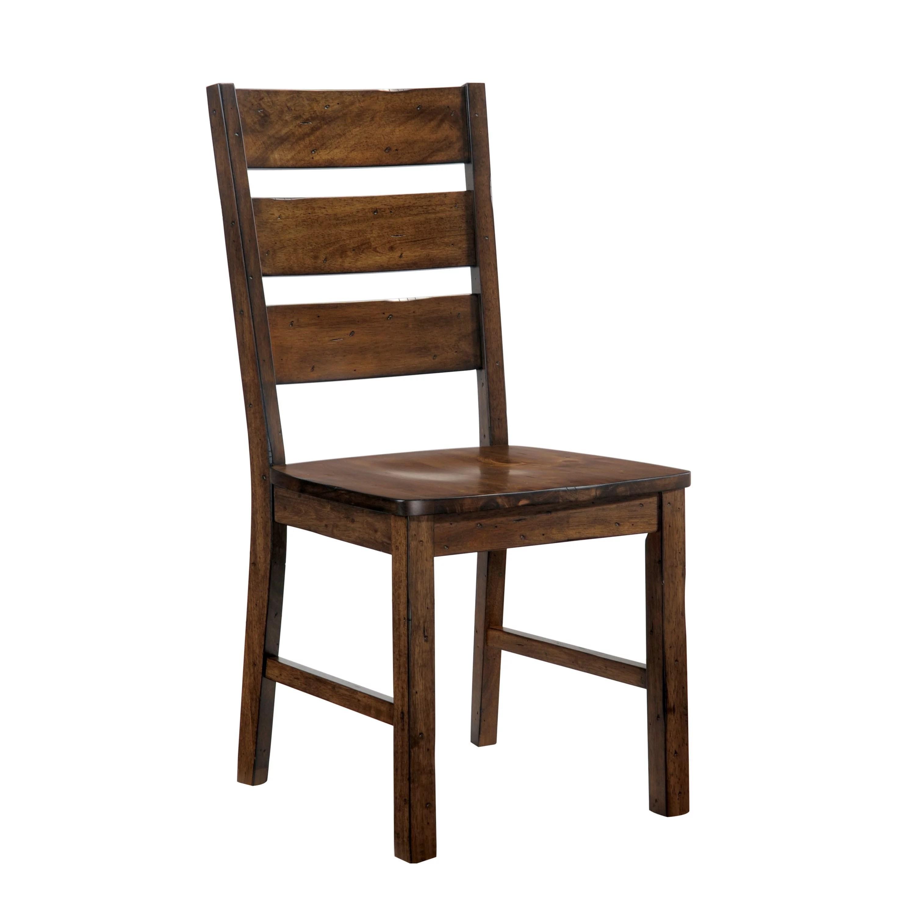 industrial dining chair adult bean bag chairs furniture of america terele walnut finish rustic set 2 walmart com