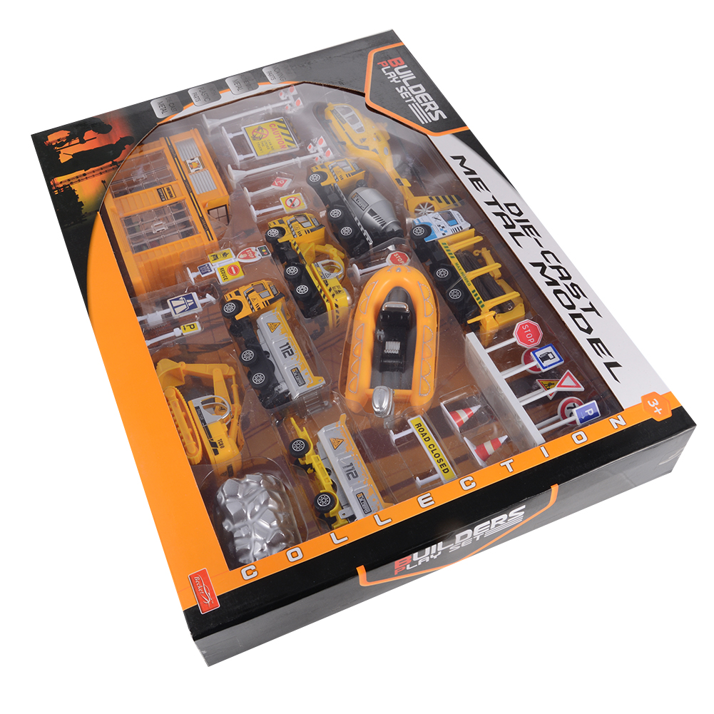 Builders Play Set Construction Toys Diecast Metal