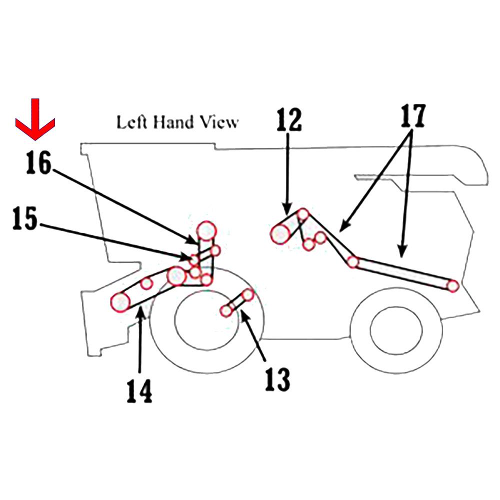 H125565 New Header & Reel Pump Belt For John Deere Combine