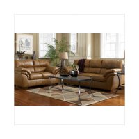 Ashley Furniture Warren Leather Sofa and Loveseat Set in ...