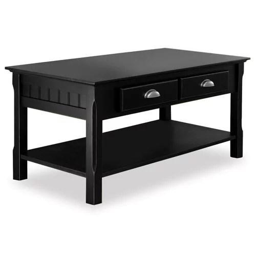 Black Wooden Coffee Table  Walmartcom