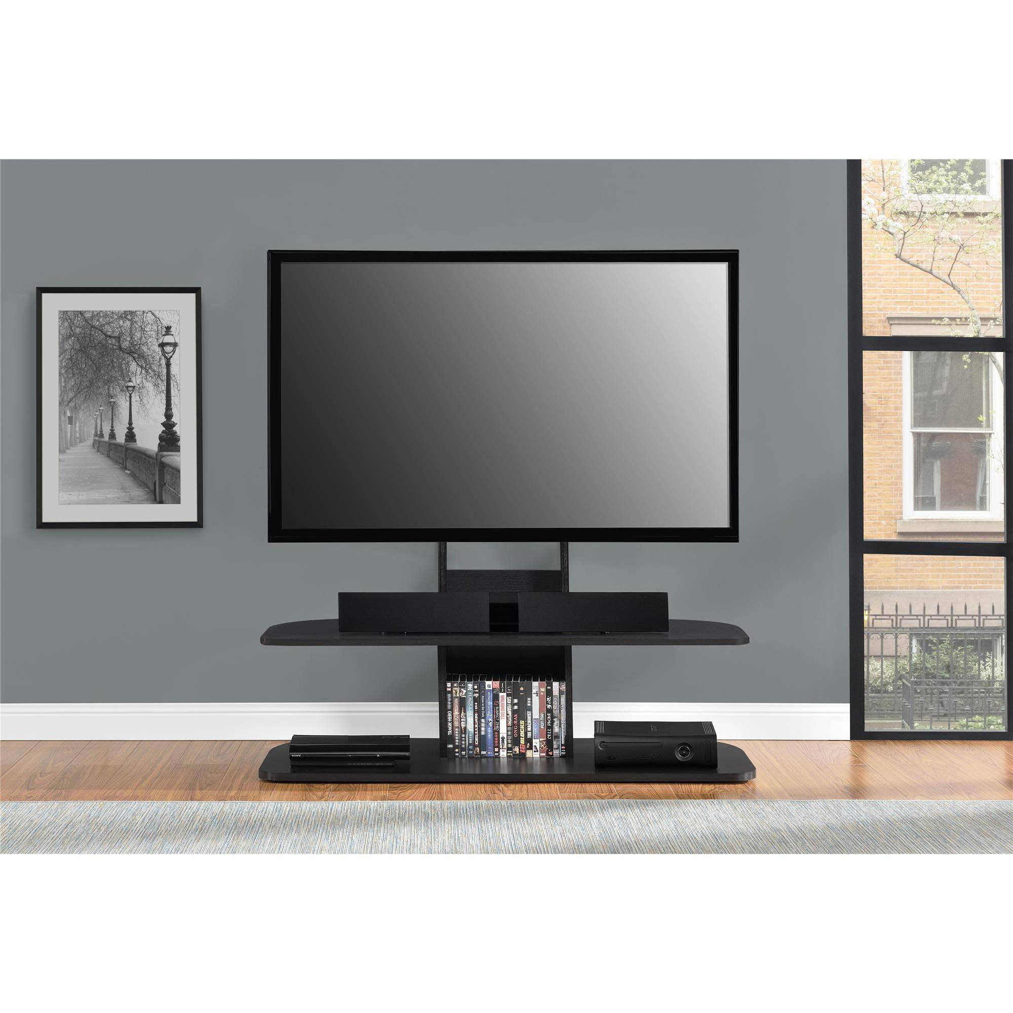 Ameriwood Home Galaxy TV Stand with Mount for TVs up to 65 Wide Black  Walmartcom