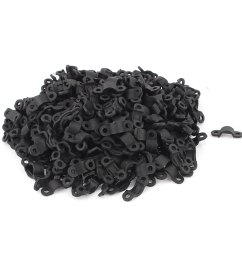 420 pcs black plastic arc shaped cable clamp wire harness clip fastener [ 1100 x 1100 Pixel ]