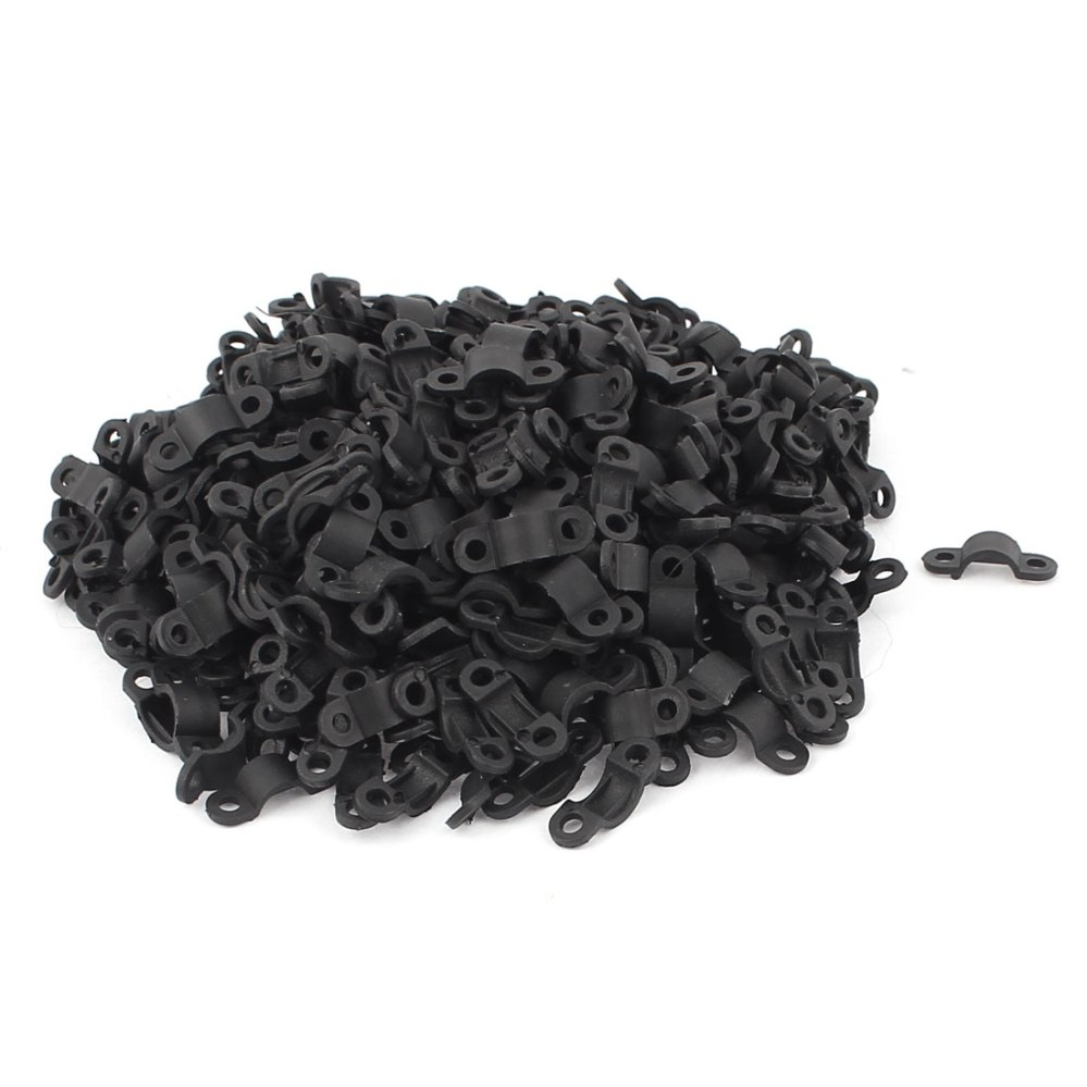 medium resolution of 420 pcs black plastic arc shaped cable clamp wire harness clip fastener